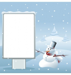 Snowman advertising vector