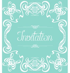Flourishes frame invitation vector