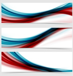 Smooth swoosh header footer web abstract vector