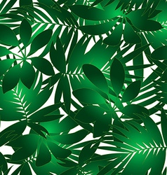 Green tropical pattern vector image