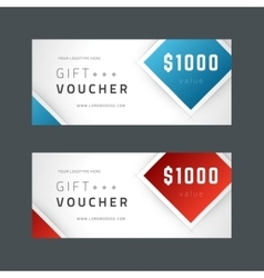 Voucher template abstract gepmetric design vector