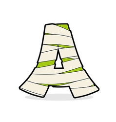 Letter a mummy typography icon in bandages vector