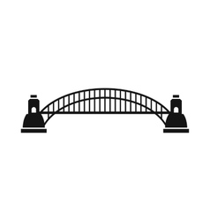 Sydney harbour bridge icon simple style vector