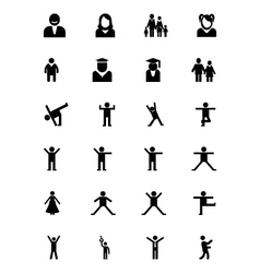 Human Icons 6 vector image