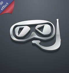 Diving icon symbol 3d style trendy modern design vector
