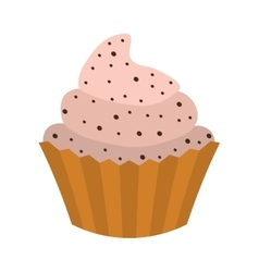 Cupcake icon sweet food design graphic vector