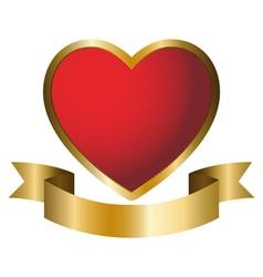 A heart symbol emblem vector