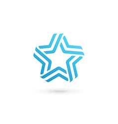 Abstract star logo icon design template elements vector