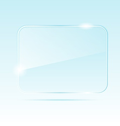 abstract transparent glass banner - vector image vector image