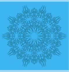 Blue ornamental line pattern vector