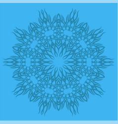 blue ornamental line pattern vector image vector image