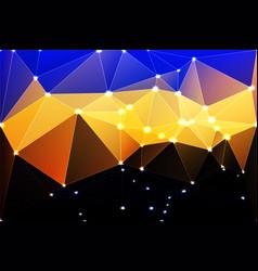 blue yellow orange black geometric background vector image vector image