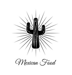 cactus cartoon and black and white sketch style vector image vector image