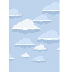 Cloud pattern on blue background vector