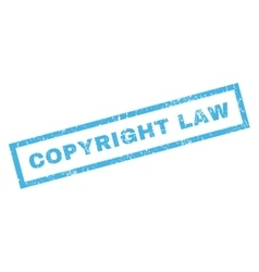 Copyright law rubber stamp vector