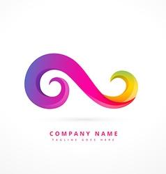 Creative floral logo template design vector