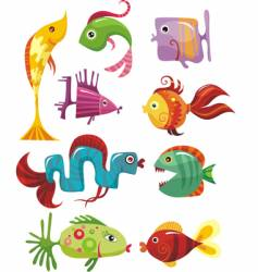 Funky fish vector