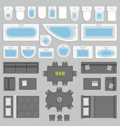 furniture top view vector image vector image