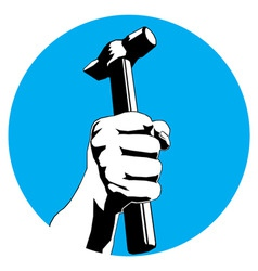 hammer hand vector image vector image