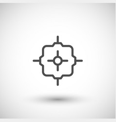 junction box line icon vector image vector image