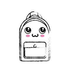 Kawaii backpack icon vector