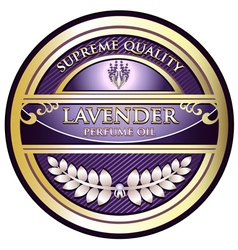 Lavender perfume oil label vector