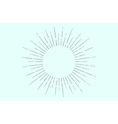 Linear drawing of light rays sunburst vector image