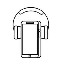 mobile phone and headphones gadget technology vector image