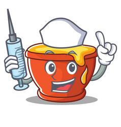 Nurse honey character cartoon style vector