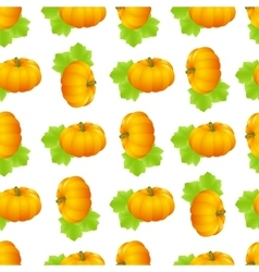 pumpkin seamless isolated vector image vector image