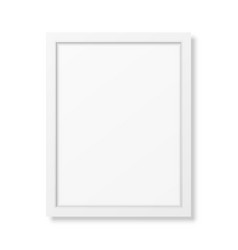 Realistic white frame A4 vector image vector image