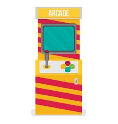 Retro arcade machine flat style vector