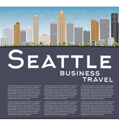 Seattle City Skyline vector image