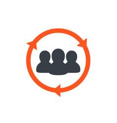 Staff rotation icon vector