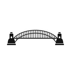 Sydney Harbour Bridge icon simple style vector image vector image