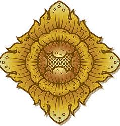 Thai Flower Fantasy vector image