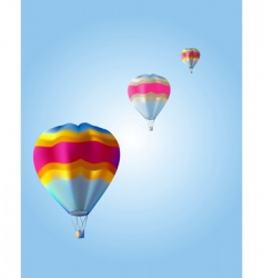 three balloon vector image vector image