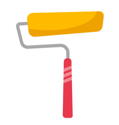 yellow paint roller cartoon vector image