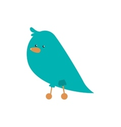 Bird cartoon icon cute animal design vector