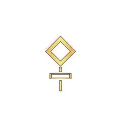 road sign computer symbol vector image
