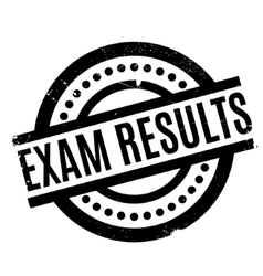 Exam results rubber stamp vector
