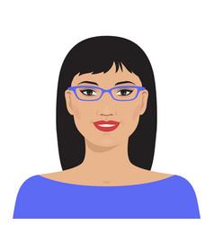 Pretty asian woman vector