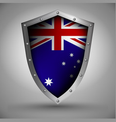 Shield with the australiaflag vector