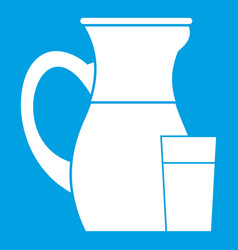 jug of milk icon white vector image