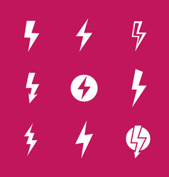 Lightning bolts warning signs vector