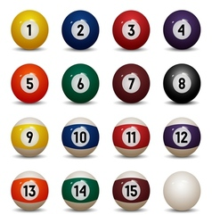 Colored pool balls vector