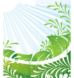 Green rural meadow vector