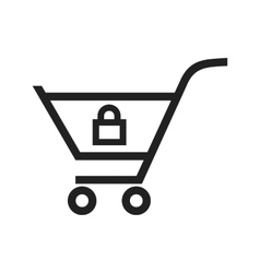 Locked cart vector