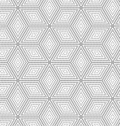 Gray dotted cubes with offset vector