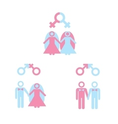 Gay marriage vector